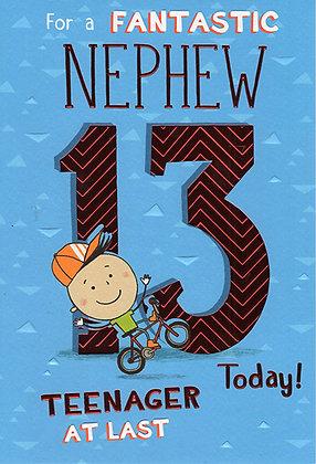 Nephew's 13th Birthday Card
