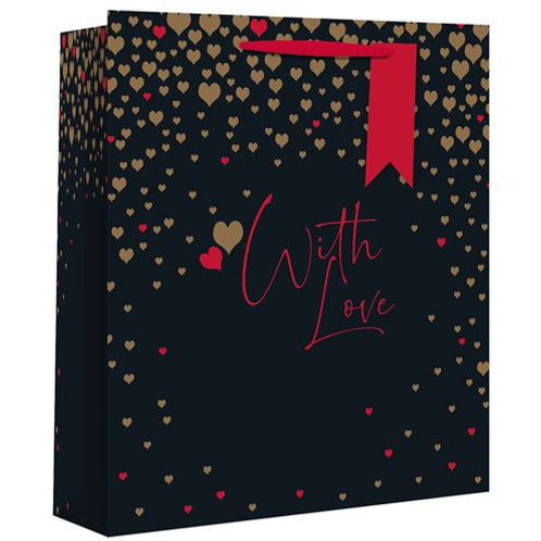 Valentines Gift Bag With Love (Large) Includes Tissue Paper