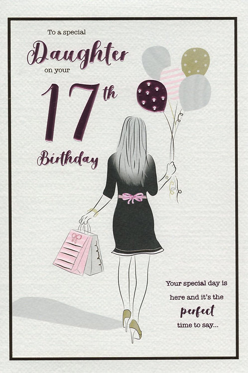 Daughter's 17th Birthday Card