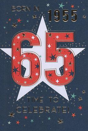 Year You Were Born 65th Birthday Card