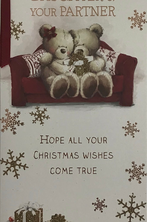 Daughter & Partner Christmas Card
