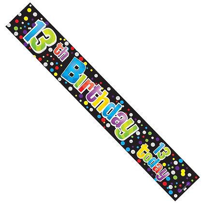 Unisex 13th Birthday Banner