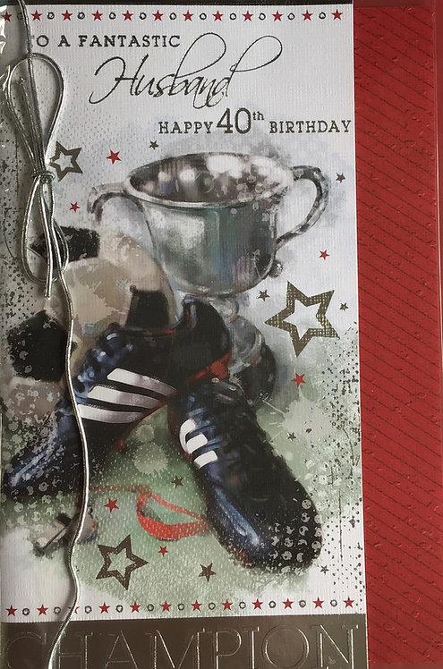 Husband's 40th Birthday Card