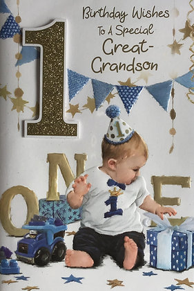 Great Grandson's 1st Birthday Card