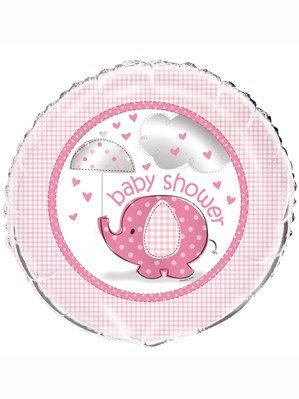 "Umbrellaphants Pink 18"" Foil Balloon (Deflated)"