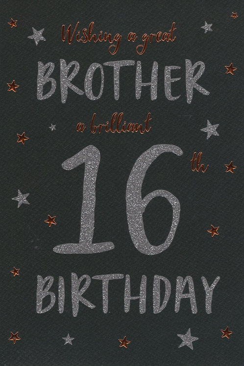 Brother's 16th Birthday Card