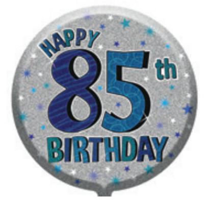 "85th Birthday Male 18"" Foil Balloon"