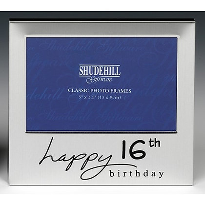 Satin Silver Occasion Frame 16th Birthday 5x3