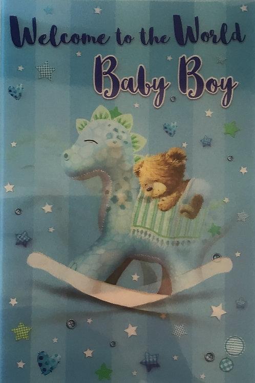 3D Baby Boy Card (C)