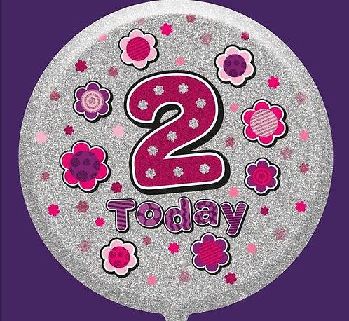 "2nd Birthday Female 18"" Foil Balloon"