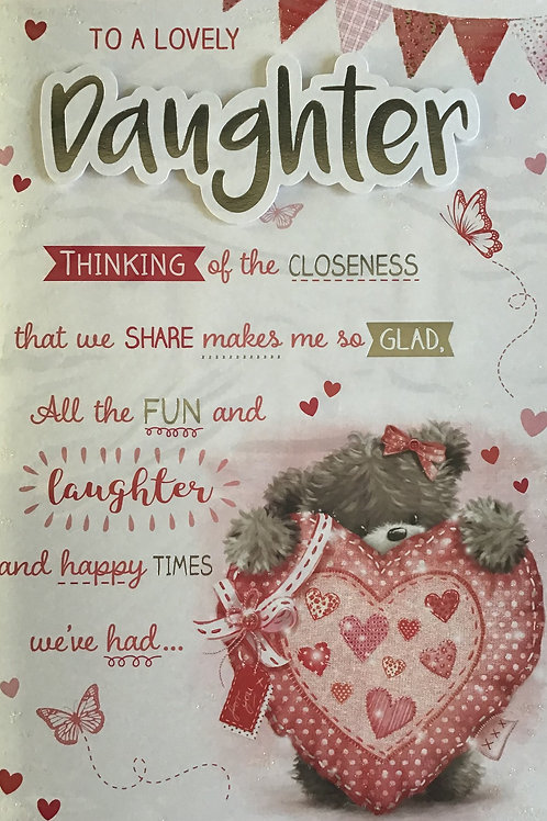 Daughter Birthday Card (Lge) 8 Page