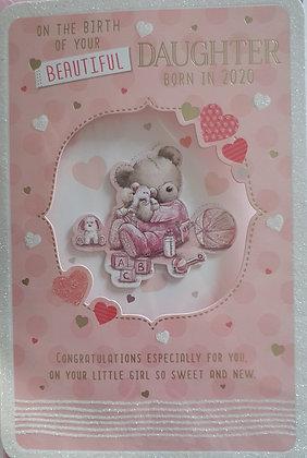 Birth of Baby Girl Card