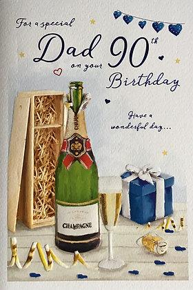 Dad's 90th Birthday Card