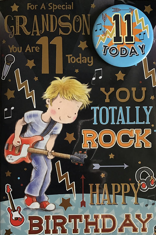 Grandson's 11th Birthday Card