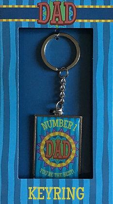 Number 1 Dad Keyring