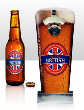 Wall Bottle Opener - Best Of British Pint