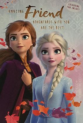 Disney Frozen Friend Birthday Card