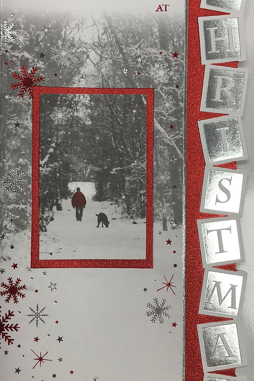Man In My Life Christmas Card