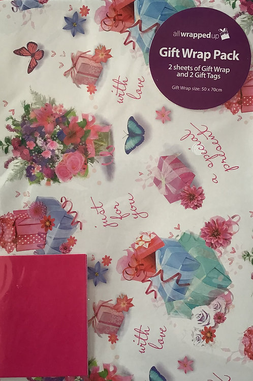 Just For You Gift Wrap Pack