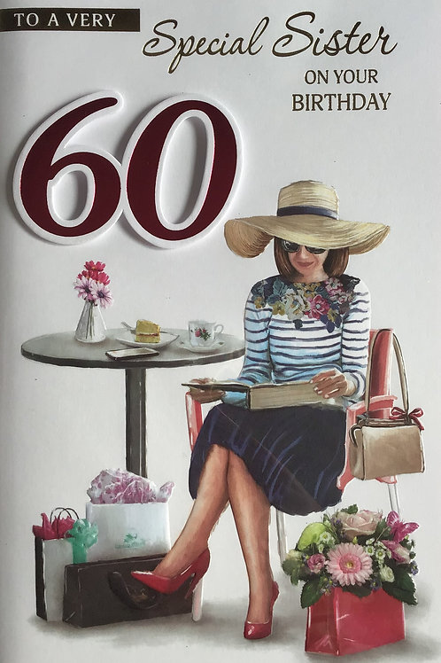 Sister's 60th Birthday Card