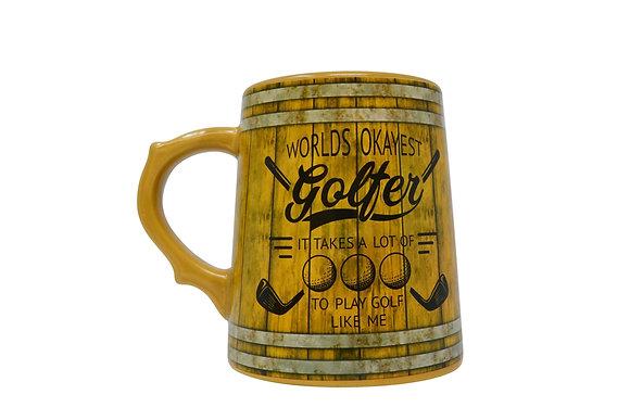 Worlds Okayest Golfer Mug