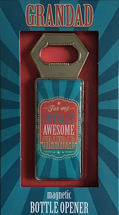 Totally Awesome Grandad Magnetic Bottle Opener