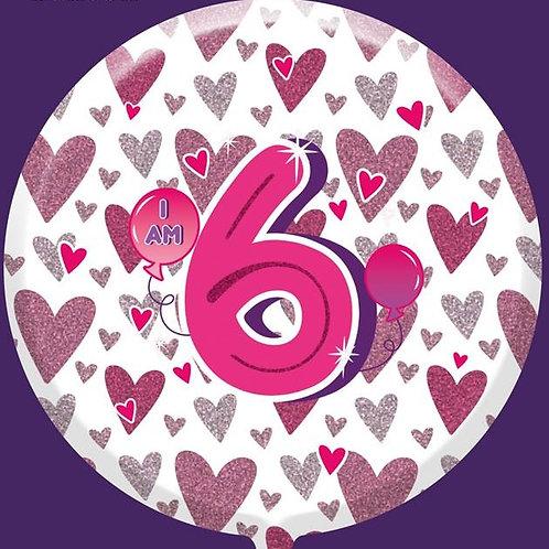 "6th Birthday Female 18"" Foil Balloon"