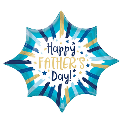 """Happy Father's Day 35"""" Supershape Foil Balloon (Deflated)"""
