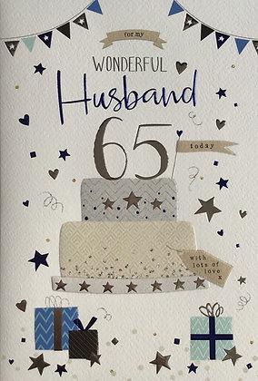 Husband's 65th Birthday Card
