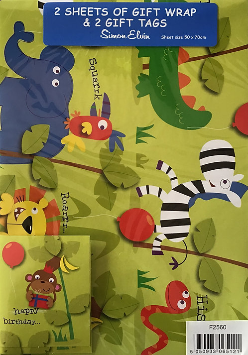 Animals Gift Wrap Pack