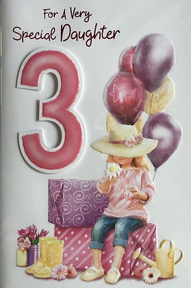 Daughter's 3rd Birthday Card