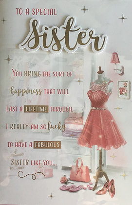 Sister Birthday Card 8 Page