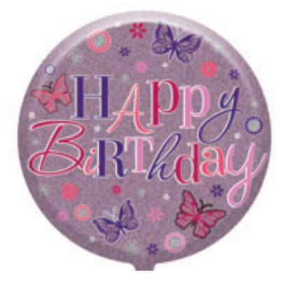 "Female 18"" Foil Balloon Traditional Birthday (Deflated)"