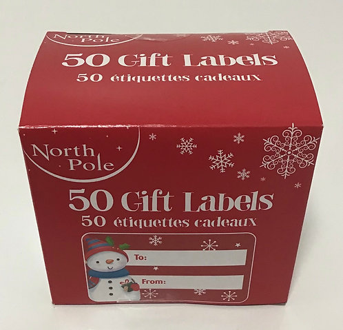 50 Gift Labels