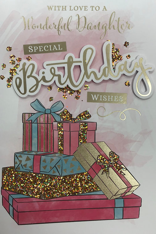 Daughter Birthday Card (Lge)