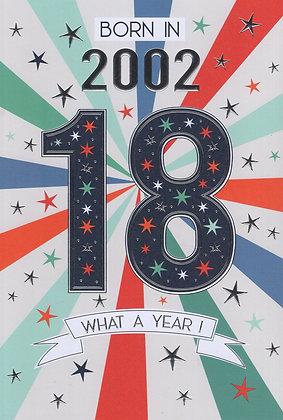 Year You Were Born 18th Birthday Card