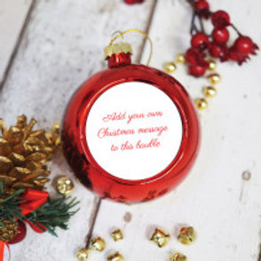 Personalised Christmas Bauble - Just Text