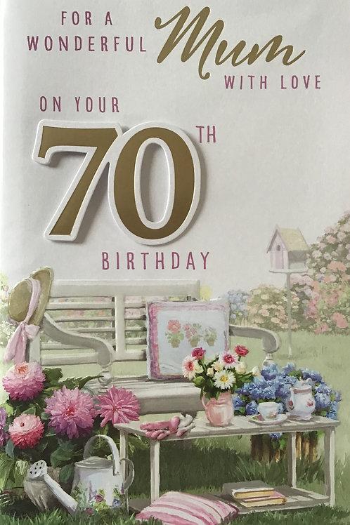 Mum's 70th Birthday Card