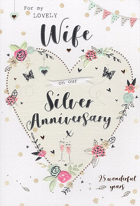 Wife 25th Anniversary Card