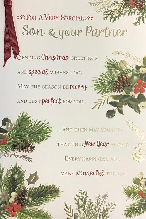 Son & Partner Christmas Card