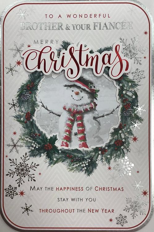 Brother & Fiancee Christmas Card