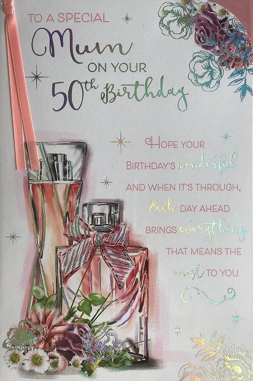 Mum's 50th Birthday Card