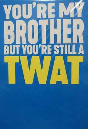 Brother Twat Birthday Filthy Sentiment Card