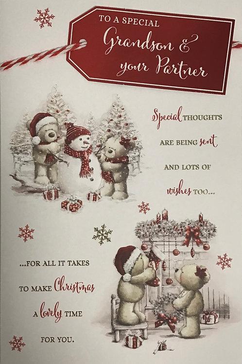 Grandson & Partner Christmas Card