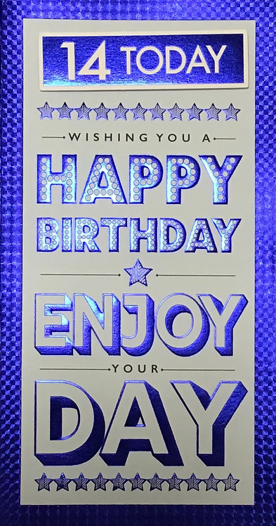 14th Male Birthday Card
