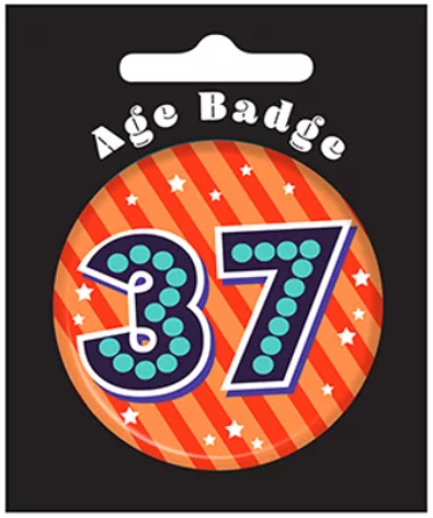 37th Birthday Badge (5.5cm)