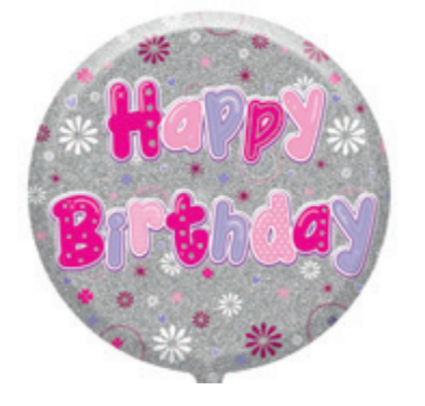 "Female 18"" Foil Balloon Birthday (Deflated)"