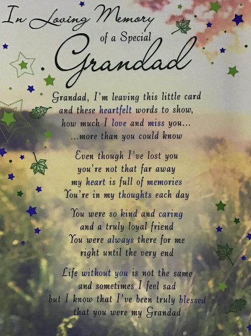 In Loving Memory Of A Special Grandad
