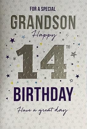 Grandson's 14th Birthday Card