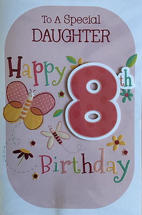 Daughter's 8th Birthday Card